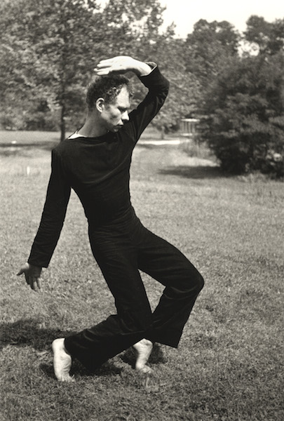 Hazel Larsen Archer, Merce Cunningham Dancing, c. 1952-53.
