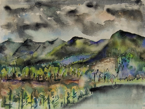 Joseph Fiore, Black Mountain, Lake Eden, 1954.