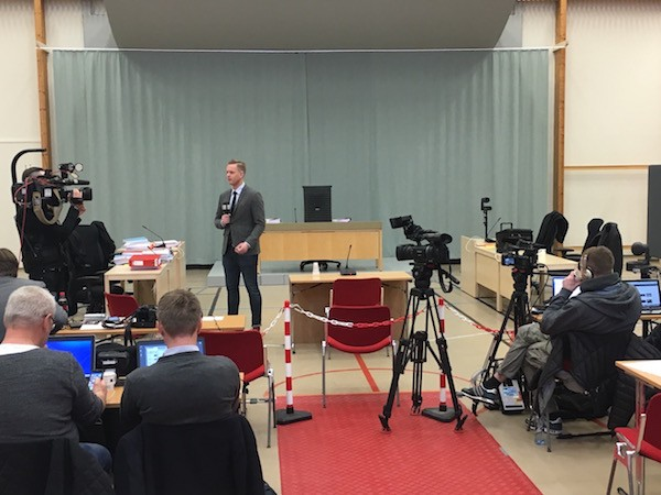Skien Prison—a Norwegian kriminalomsorgen—converted its sports hall into a makeshift courtroom for the most recent proceedings of Breivik v. State.