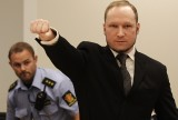 FILE - In this Aug. 24, 2012 file photo, mass murderer Anders Behring Breivik, makes a salute after arriving in the court room at a courthouse in Oslo.   Breivik, who admitted killing 77 people in Norway last year, was declared sane and sentenced to prison for bomb and gun attacks. Convicted mass killer Anders Behring Breivik has applied for admission to the University of Oslo, testing the limits of Norway's commitment to rehabilitate criminals rather than punish them. Breivik  wants to study political science, and prison and university officials say he could conduct self-studies in his cell if admitted  to the school. University rector Ole Petter Ottersen told The Associated Press on Thursday Aug. 1, 2013  that inmates are judged by the same criteria as other applicants. (AP Photo/Frank Augstein, File)