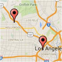Map: Figueroa Street - Vine Street