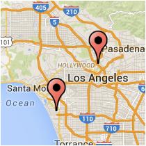 Map: Century Boulevard - Benedict Street