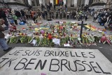 "A banner for the victims of the bombings reads "" I am Brussels"" at the Place de la Bourse in the center of Brussels, Wednesday, March 23, 2016. Bombs exploded yesterday at the Brussels airport and one of the city's metro stations Tuesday, killing and wounding scores of people, as a European capital was again locked down amid heightened security threats. (AP Photo/Martin Meissner)"
