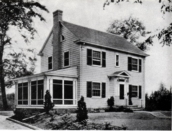 Old-style suburban house from Authentic Small Houses of the Twenties (1929)