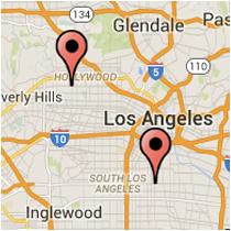 Map: Slauson Avenue - Melrose Avenue