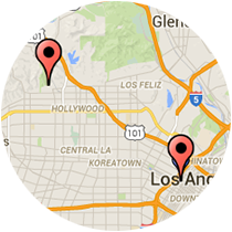 Map: 6th Street - Hiller Avenue