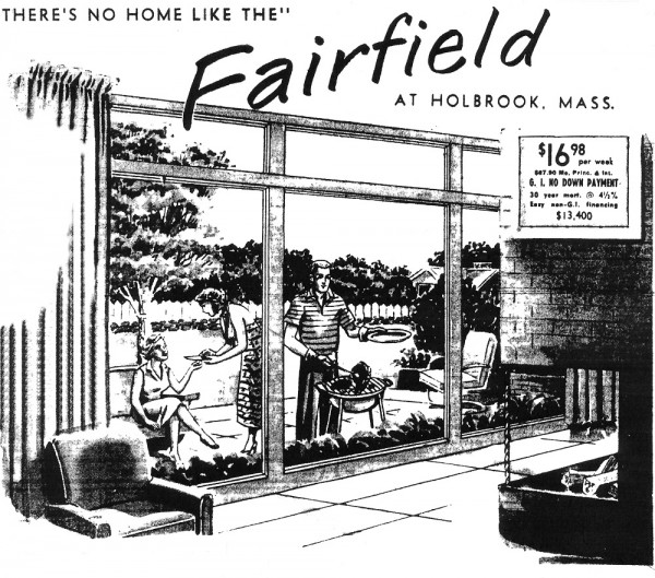 Ad for a Campanelli Brothers house, 1956