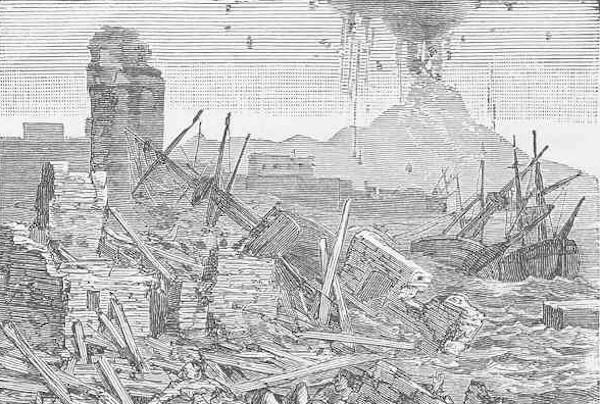 The eruption of Tomboro in 1821.