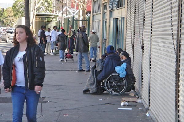 Downtown Los Angeles' Skid Row.