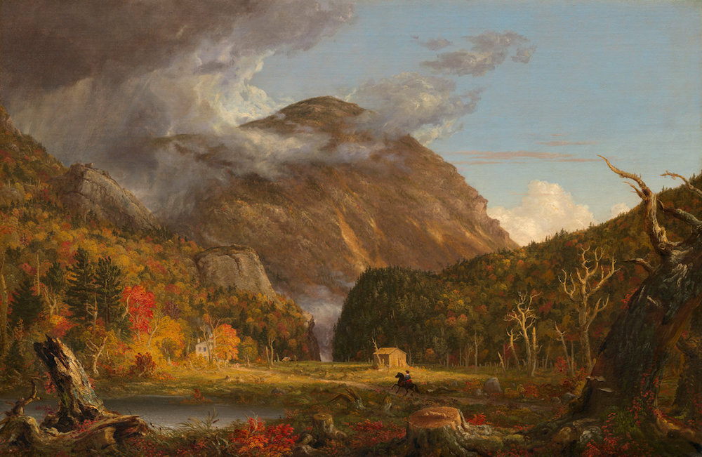 Thomas Cole (American, 1801 - 1848 ), A View of the Mountain Pass Called the Notch of the White Mountains (Crawford Notch), 1839, oil on canvas, Andrew W. Mellon Fund
