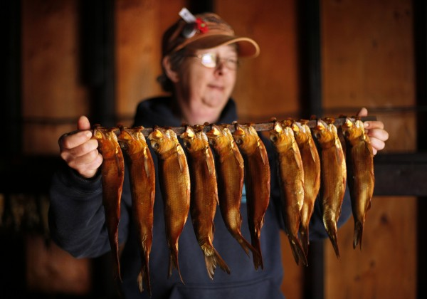Smoked alewives at an Alewife Festival in Maine in 2011. (Photo: Robert F. Bukaty/Associated Press)