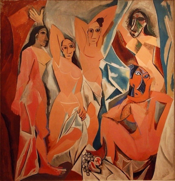 Les Demoiselles d'Avignon, 1907, Pablo Picasso. Oil on canvas.