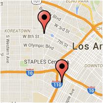 Map: 21st Street - Coronado Street