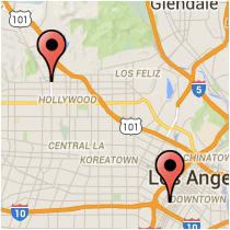 Map: Cameron Lane - Yucca Street