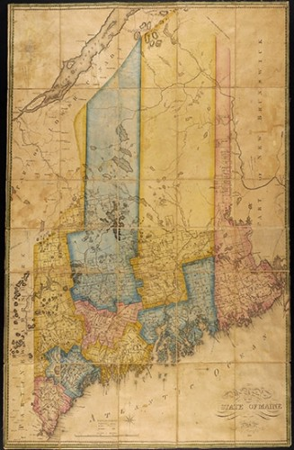 Map of the state of Maine. By Moses Greenleaf Esq. 1820.