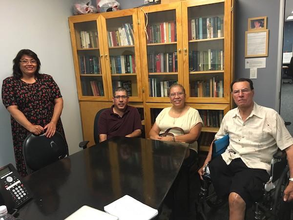 Members of the cundina. From left to right: Dolores Santa Maria, Juan Estrada, Ana Velasquez, and Nynor Galindo.
