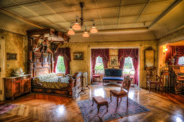 Mrs. Winchester's main bedroom.