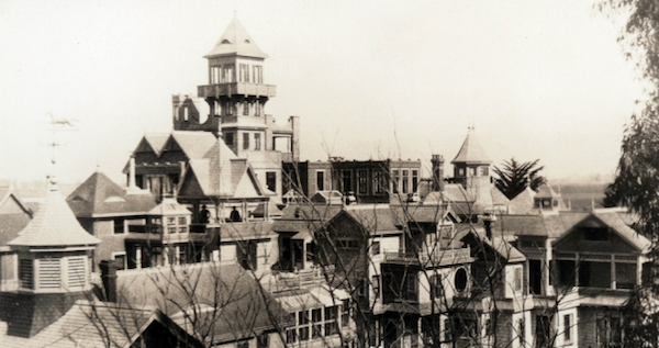 The Winchester Mystery House, circa 1900-1905.