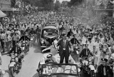 Wendell Willkie, Republican presidential candidate, parades through his hometown, Elwood, Ind., Aug. 17, 1940.  He was en route to a local park where he delivered his acceptance speech as the party's nominee.  (AP Photo/John D. Collins)