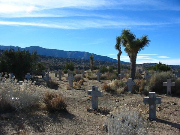 Oblate Cemetery at St. Andrew's Abbey in Valyermo, CA.