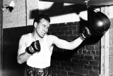Irish-born American Welterweight boxer Jimmy McLarnin during a traininf session at a gym in America, June 8, 1934. (AP Photo)