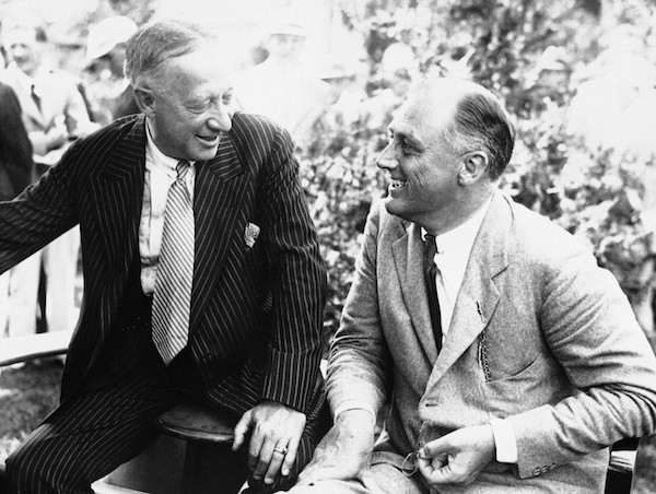 Irish-American Catholic and Democrat Al Smith (left) lost his 1928 presidential bid, but a surge of immigrant support helped sweep Franklin Delano Roosevelt (right) into the White House in 1932.