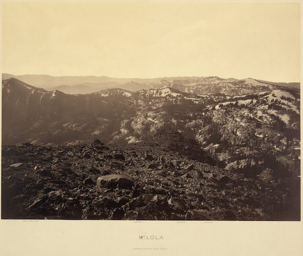 Mt. Lola Looking Toward Lake Tahoe, 1879.