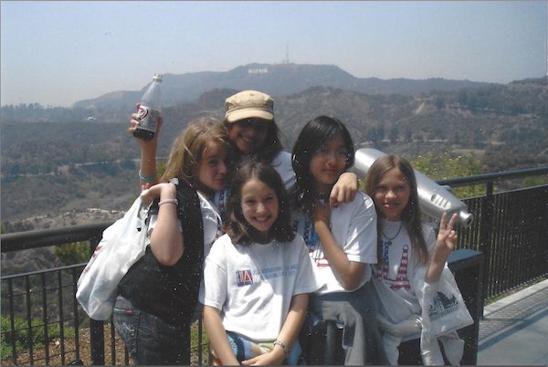 Jones (far right) on a school field trip with LILA to the Griffith Park Observatory.