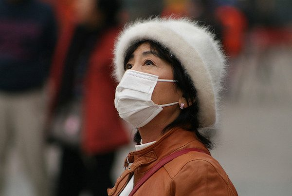 Chinese urbanites wear air pollution masks when pollution is elevated.