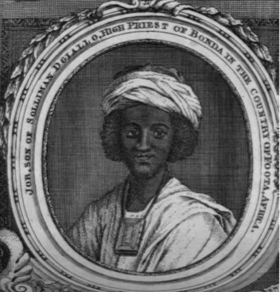 Ayuba Suleiman Diallo was seized on the Gambia River and taken to Maryland in the 1730s.