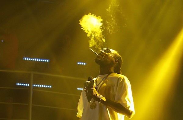 "Rapper Snoop Dogg, the ""wizard of weed wellness,"" performing in Cancun in 2014."