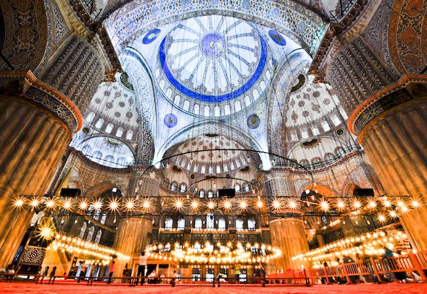 The Sultan Ahmed Mosque in Istanbul, Turkey.