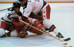 WINTER OLYMPICS MEN'S HOCKEY GAME ACTION SEMI FINAL USA USSR MIRACLE ON ICE