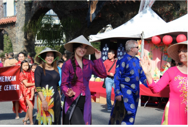 Traditional Filipino costumes at the annual Lunar Festival in Riverside.