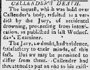 From Examiner, July 27, 1803.