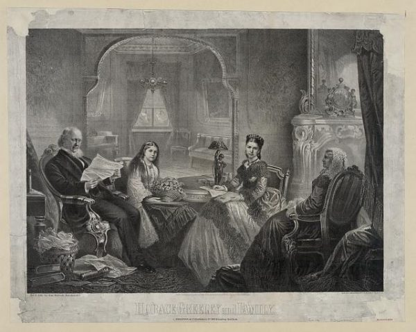 Horace Greeley and family.