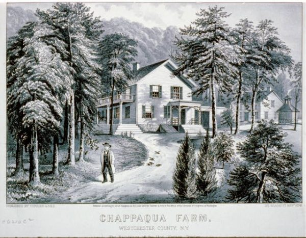 Chappaqua Farm, Westchester County, N.Y.: The residence of the Hon. Horace Greeley. By Currier & Ives, 1872.