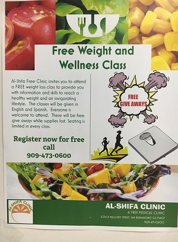 Al-Shifa hosts free health classes in both English and Spanish.