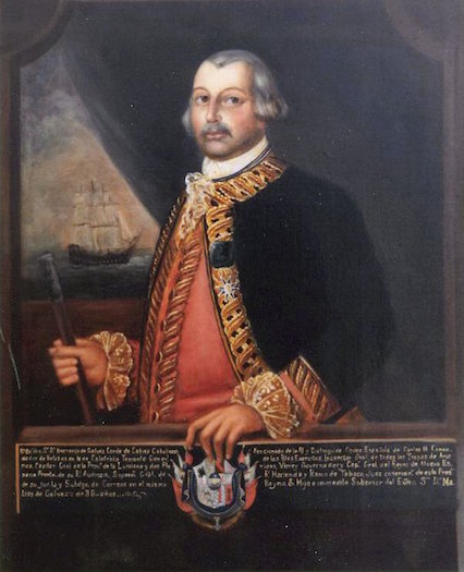 Spanish statesman and soldier Bernardo de Gálvez.