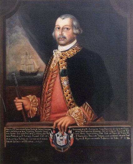 Spanish statesman and soldier Bernardo de Gálvez.