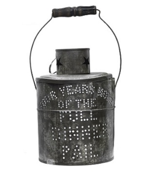 """Full dinner pail"" lantern from McKinley and Roosevelt's 1900 campaign."