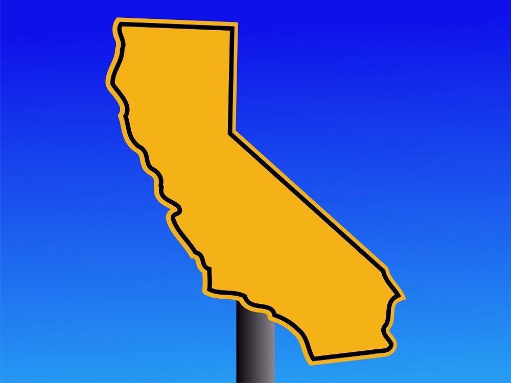 California map warning sign