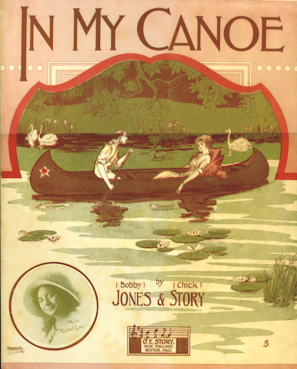 "Cover from sheet music for ""In My Canoe."""