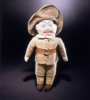 Theodore Roosevelt doll depicts him in his Rough Rider uniform from the 1898 Spanish-American War.