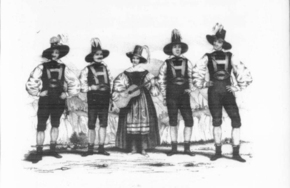Figure 1: The Tyrolese Minstrels. Courtesy Library of Congress, Music Division.