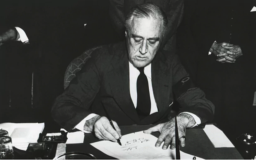 Image result for president franklin d. roosevelt gives the u.s. military the authority to locate and detain japanese americans
