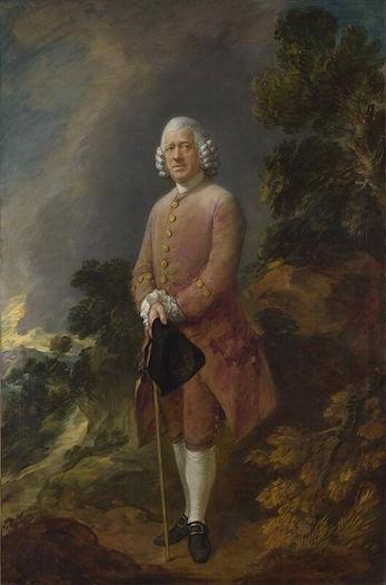 Thomas Gainsborough's Dr. Ralph Schomberg, 1770. National Gallery, London.