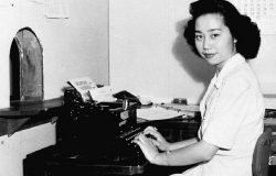 Mitsuye Endo was a plaintiff in the landmark lawsuit that ultimately led to the closing of the concentration camps and the return of Japanese Americans to the west coast in 1945. Courtesy of Densho.