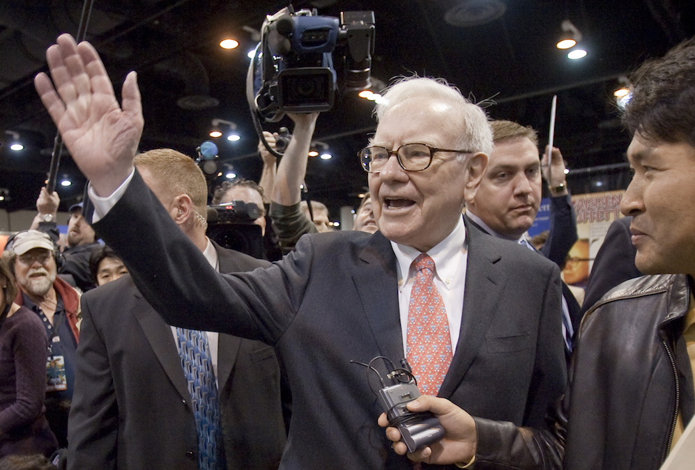 Warren Buffett, CEO of Berkshire Hathaway, in 2009. Photo by Nati Harnik/Associated Press.