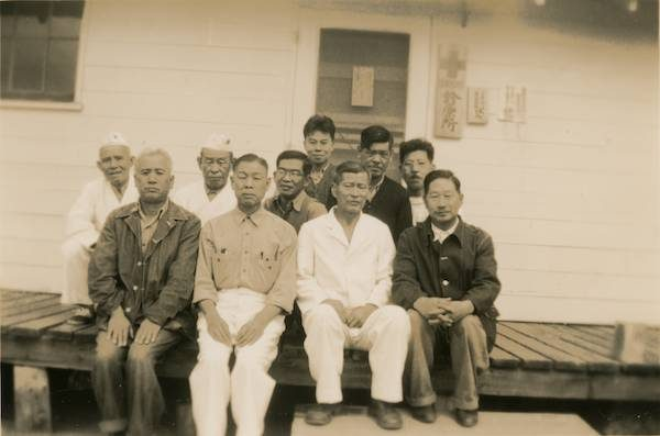 Men at Santa Fe, New Mexico Internment Camp. Courtesy of David Rogers/Densho Digital Repository.